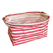 Reinforced Cotton Basket - Red - Oval