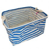 Reinforced Cotton Basket - Blue - Square
