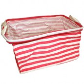Reinforced Cotton Basket - Red - Square