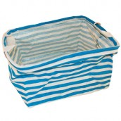 Reinforced Cotton Basket - Turquoise - Square
