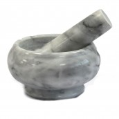 Small Grey Marble Pestle and Mortar