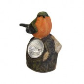 Solar Light - Orange and Green Bird - Click Image to Close