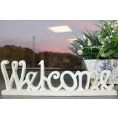 Standing Wooden Sign - Welcome