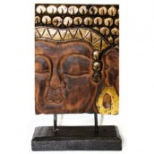 Carved Golden Buddha - Stand