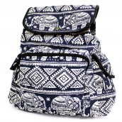 Traveller's Backpack - 3 Pocket Blue Elephant