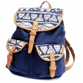 Traveller's Backpack - 2 Pocket Blue Elephant