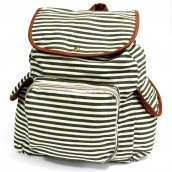 Traveller's Backpack - 3 Pocket Olive Stripe