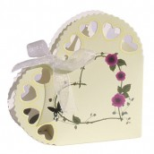 50 x Heart Boxes - Ivory