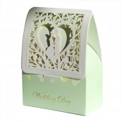 24 x Love Heart Couple Boxes - Cream
