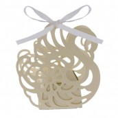 24 x Swan Cut Out Boxes - Ivory
