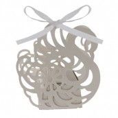 24 x Swan Cut Out Boxes - White