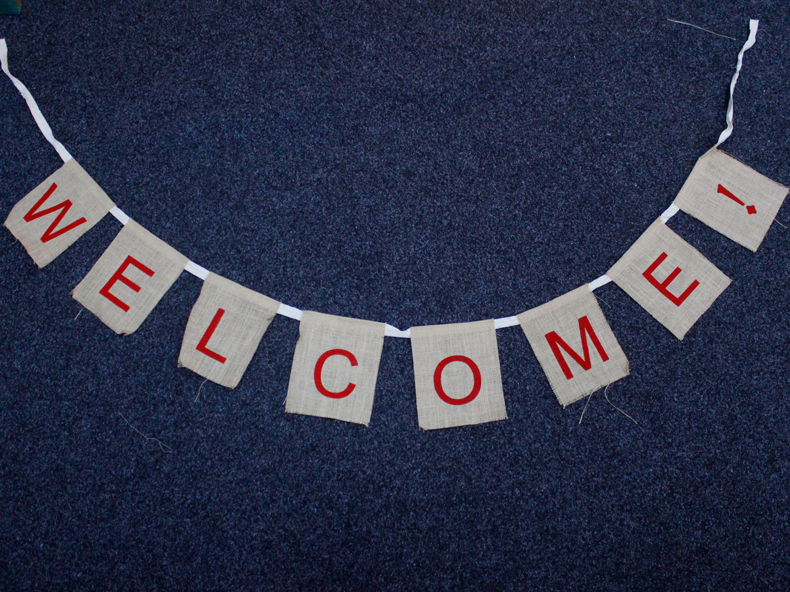 Natural Bunting - Welcome x 2