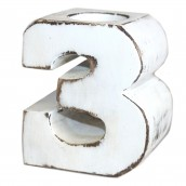 Wooden Birthday Candle Number Holder - No. 3