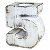 Wooden Birthday Candle Number Holder - No. 5