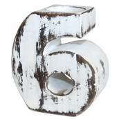 Wooden Birthday Candle Number Holder - No. 6